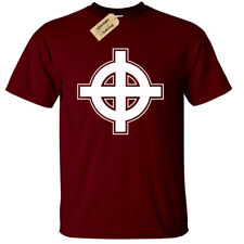 Cruz Celta Diseño Camiseta Hombre Pagano Irlanda Urban Cool Urban Hippy