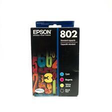 Epson DuraBrite Ultra 802 Black Cyan Magenta Yellow Color 4 Pack Ink Cartridges