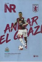Aston Villa v Newcastle United 25th November 2019 Match Programme 2019/20