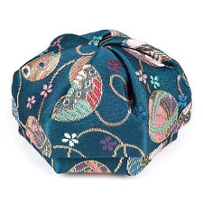 Blue Floral Traditional Japanese Jewellery Box
