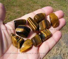 10 x Gold Tigers Eye Tumblestones 17mm - 22mm A Grade Crystal Gemstone Wholesale