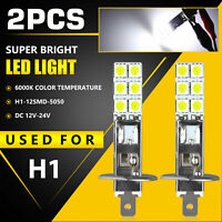 2X H1 6000K Super White 55W LED Headlight Bulbs Kit Fog Driving Light DRL Lamp