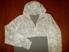 NEW UNDER ARMOUR 1/2 ZIP GRAY LONG SLEEVE FITTED LIGHTWEIGHT HOODIE MENS XL