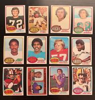 Lot of 12 1976 Topps Football Cards w/ Mel Blount LL+ - Nice Condition