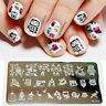 Nagel Schablone BORN PRETTY L019 Nail Art Stamp Stamping Template Plates