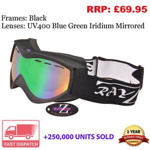 Rayzor Ski Snowboard Goggles 100% UV400 Antifog Double Lens Model RIBKBLG RRP£69