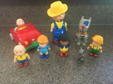 RARE CAILLOU FIREHOUSE PLAYSET AND TREE HOUSE FORT PLAYSET 4 FIGURES & CAT SWING