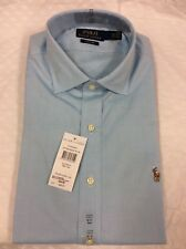 Polo Ralph Lauren Custom Regent Mens Long Sleeve Plain Shirt, Size 16.5 / 42