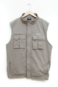 Shimano Men's Polar Fleece Lined Khaki Fishing Vest Size XL