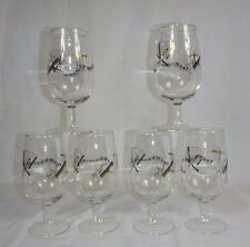 6 Vintage Mid Century Jazz Music Musical Instrument Motif Bar Glasses Footed