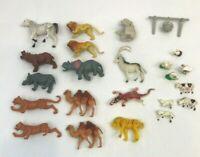 Vintage Plastic Toy Animals Farm Jungle Zoo Lot Figures Pretend Play Hong Kong