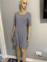 Ladies George Blue / White Striped T-Shirt Dress Size 12 BNWT