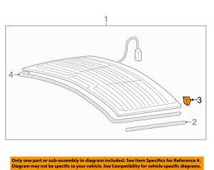 AUDI OEM 98-04 A6 Quattro-Back Glass Spacer 8D0845237