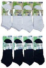 Nuevo para Hombre Mujer Bambú Zapatillas Interior Calcetines Tobilleros Deporte
