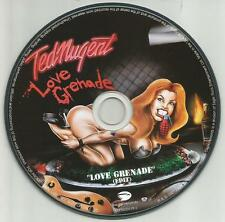 TED NUGENT Love Grenade RARE EDIT AMAZING PICTURE DISC PROMO DJ CD single 2007