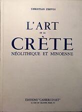 ZERVOS Christian, L'Art de la Crète Néolitique et Minoenne. Ed. Cahiers d'Art