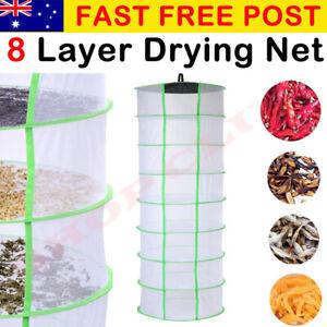 60cm x 8 Tiers Hydroponic Dry Net Indoor Plant Drying Rack Grow Light Tent