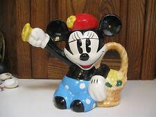Disney Minnie Mouse Flower Basket Teapot -Treasure Craft Ceramic Watering Can