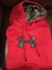 NWT MENS XL UNDER ARMOUR STORM COLD GEAR RED REALTREE CAMO $65 HOODIE SWEATSHIRT