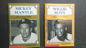 1993 SCHOLASTIC MLB CLASSIC SPORTS SHOTS # 3 W. MAYS & #6 M MANTLE