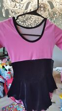 cute ice skating practice dress small girls pink and black