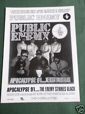 PUBLIC ENEMY - MAGAZINE CLIPPING / CUTTING- 1 PAGE ADVERT