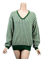 POLO RALPH LAUREN Green Ivory Longsleeve Mens V-Neck Sweater Shirt Size L