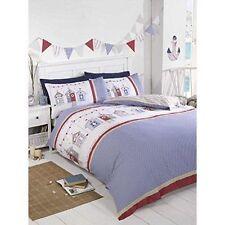 Girls Single Bedding Age 3 to 13 Duvet Cover Fun Bright Designs 135cm X 200cm Beach Huts