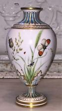 Exquisitely Hand Painted Antique Minton Aesthetic Movement Vase with Insects