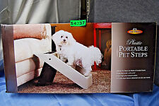 Pet Store Portable Folding Pet Steps for High Bed, Car or Furniture Ramp S4237