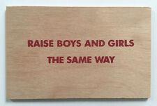 rare 1st ed JENNY HOLZER silkscreen wood postcard (1994) artist published - d
