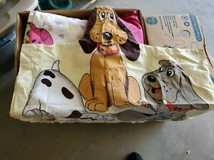 Vintage 1985 Pound Puppies Pop Up Pillowcase Standard Tonka Lovable Huggable Dog
