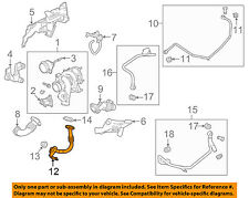 Cadillac GM OEM 10-11 SRX Turbo Turbocharger-Oil Tube Line 12791584