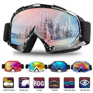 Double-layer Lens Pro Skiing Snowboarding Goggles Anti-UV Snow Ski Goggles UK