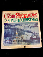 Bing Crosby Frank Sinatra Fred Waring - 12 Songs Of Christmas 1964 Vinyl... 115b