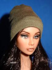 OLIVE-GREEN BEANIE HAT 1:6 for Fashion Royalty Dolls Poppy Parker Dynamite Girls