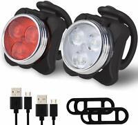 Simpeak Fahrrad Rücklicht USB Fahrradlampe LED Fahrrad Beleuchtung Frontlicht