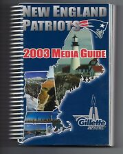 2003 New England Patriots Football Official Media Guide Gillette Stadium