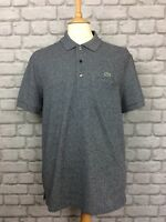 LACOSTE SPORT MENS UK L SIZE 5 BLUE MARL REGULAR FIT POLO SHIRT DESIGNER CASUAL