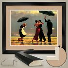 """42W""""x35H"""": THE SINGING BUTLER by JACK VETTRIANO - DOUBLE MATTE, GLASS and FRAME"""