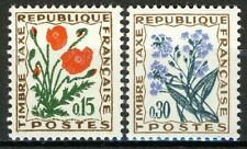 France 1964, Timbre-Taxe, Flowers set VF MNH, Mi 98-99