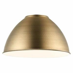 Milo Lighting Metal Bowl Pendant Shade Non Electric Antique Brass Gold