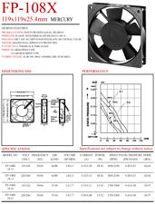 Commonwealth FP-108X Aluminum frame cooling fan 230/240V 35W 0.29A172x150x51mm