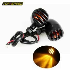 Bullet Motorcycle Turn Signals Blinkers Amber For Harley Custom Chopper Bobber (Fits: American IronHorse)