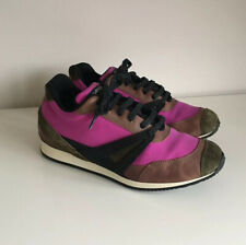 Rare Womens balenciaga Runners trainers Pink Brown Suede Leather size 37.5