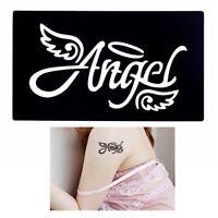 Henna Tattoo Schablone Airbrush Stencil Dövme Selbstklebend Angel Engel