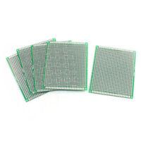 5Pcs singleSide 5x7cm Printed Circuit PCB Vero Prototyping Track Strip Board ES