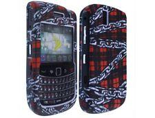 Two Piece Plastic Design Phone Case Chain Plaid For BlackBerry Tour 9630