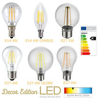 OMEGA Filament LED Bulbs E14/E27 2W 4W 6W Industrial Decorative Vintage Edison