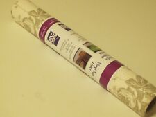"Vinyl Shelf & Drawer Liner Taupe Flower Non-Adhesive 12"" x 30"" Roll"